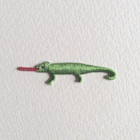 Apple Green Chameleon Iron On Patch