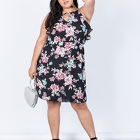 Plus Size Blossoming Floral Dress
