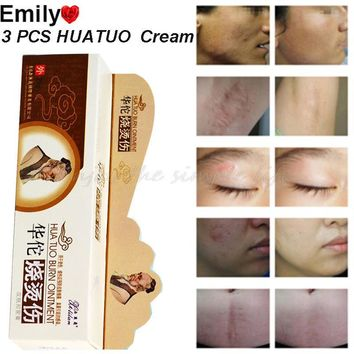 3 PCS China HUATUO Snake Ointment Body Cream Clean Skin For Cure Psoriasis Ointment Anti Acne Scar Scalds Burns Repair 25g
