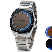 Men's LED Touch-Screen Business Watch with Stainless Steel Strap (Black)