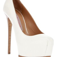 Gianmarco Lorenzi White Leather Platform Pump
