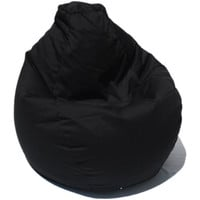 Bean Bag Boys Fabric Bean Bag Chair in Poly-Cotton Black