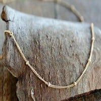 Satellite Layering Necklace - Gold