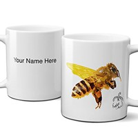 RandomOasis, Personalized Bumble Bee Mug Coffee Mug, Ceramic