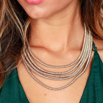 Night Out Necklace Gold