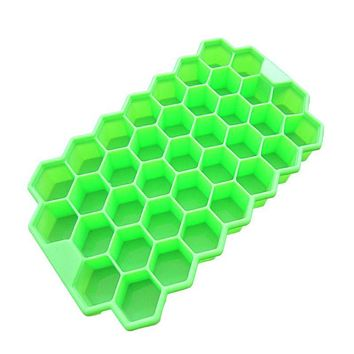 DIY 37 Ice Cubes Honeycomb Ice Cream Maker Form Pops Mould Popsicle Molds