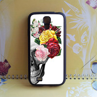 Samsung S4 active Case,Flower skull,Samsung Galaxy S3 case,Samsung s4 case,Samsung Galaxy note2,Samsung note 3 case,samsung s4 mini case