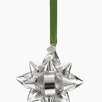 Kate Spade Tinsel Topper Silver Bow Ornament Silver ONE