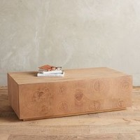 Oyster-Cut Coffee Table by Anthropologie Cedar One Size Furniture