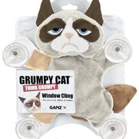 "Ganz Grumpy Cat Window Cling 10"" Plush"