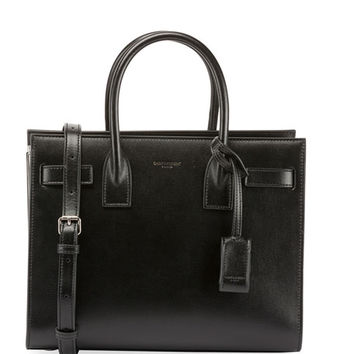 Saint Laurent Sac de Jour Baby Carryall Cuir Lisse Tote Bag