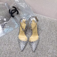 Christian Louboutin New Fashion Transparent Film High Heels