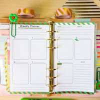 Weekly Planner Personal Size Inserts with Erin Condren Full Box Vertical Layout Personal TN Filofax Personal Planner Pages Instant Downlaod
