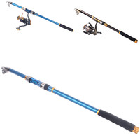 3M Spinning Telescopic Fishing Pole Saltwater Travel Rod