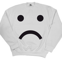 Sad Face Design Sweater