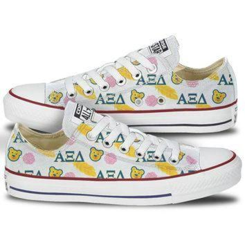 DCKL9 Alpha Xi Delta Bear & Quill Low Top Custom Converse