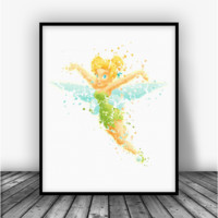 Tinkerbell Flying Art Print Poster