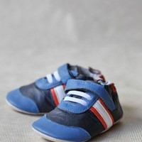 striped cruiser sport shoes in blueberry at ShopRuche.com