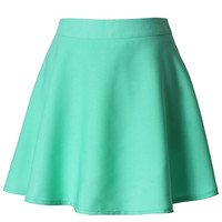 Mint Skater Skirt Green