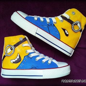 Minions 'Despicable Me' Custom Converse / Painted Shoes