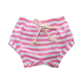 Baby shorts Toddler Kids Newborn Baby Girls Boys Print Baby Striped Bread Short summer kid clothes