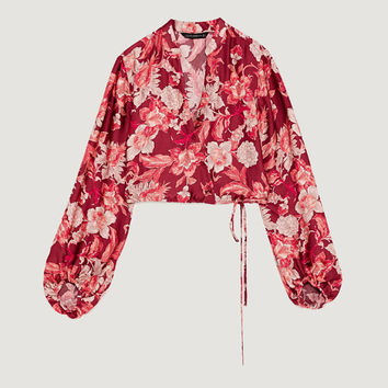 VOLUMINOUS PRINTED BLOUSE - View all-TOPS-WOMAN-COLLECTION AW/17 | ZARA Canada