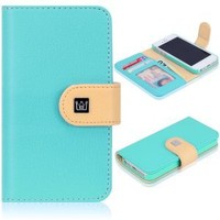 CaseCrown Pathway Wallet Case (Cloud Blue) for Apple iPhone 5: Cell Phones & Accessories