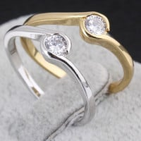 Elegant Cubic Zirconia Simple Fashion Rings = 1958382660