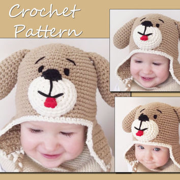 Newborn Puppy Hat Crochet Pattern, Baby, from LovelyBabyGift on