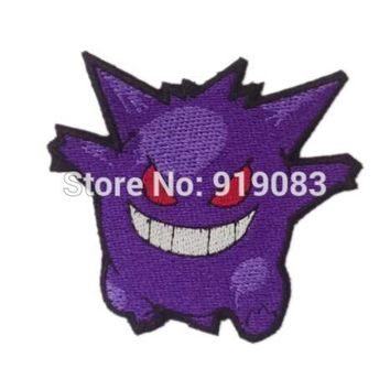 "3"" Pokemon Go Gengar patch Comics tv movie pokeball Embroidered Emblem applique iron on patch team halloween cosplay costume"