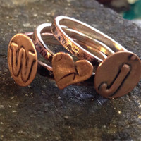 Personalized stackable ring.