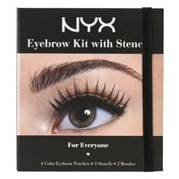 NYX Cosmetics Eyebrow Kit Set With Stencil, 0.7 Oz