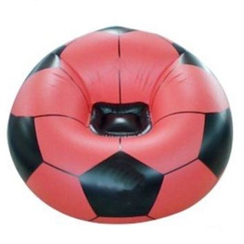 PVC Inflatable Sofa Football Shape Adults    red