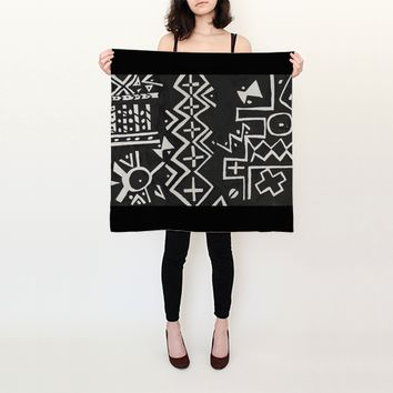 Mud cloth Square Scarf
