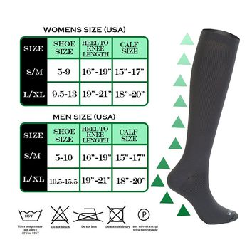 NovaYard 6 Pairs Knee High Graduated Compression Socks For Women and Men (15-20mmHg) Best Medical,Running & Fitness, Travel & Flight Socks, Circulation & Recovery,Nurses & Maternity Pregnancy