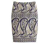 J.Crew Womens Collection Gilded Paisley Pencil Skirt