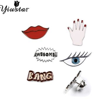 Yiustar Fashion Jewelry Accessories Metal Pin Badge Clothes Badges Backpack Beautify Icons Shoes Package Icon Sewing Accessories