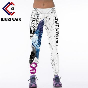 Women Skull Leopard 3D Printed Workout Fitness Slim Yoga Pants Carry Buttock High Waist Tights Gym Running Sport Leggings WA0074