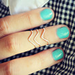 sterling silver chevron knuckle rings