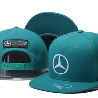 Lewis Hamiltons Signature Edition Mercedes Benz Green Snapback Hat