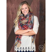 The Classic Plaid Blanket Scarf