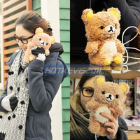 Teddy Bear Cool Plush Toy Doll With Cover Case For Iphone 5G 4S 4G