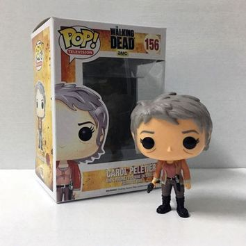 Pop!The Walking Dead Carol Peletier  Vinyl Bobble Action Figure Collection Toys
