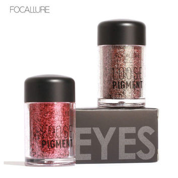 FOCALLURE 12 Colors Glitter Eye Shadow Cosmetic Makeup Diamond Lips Loose Makeup Eyes Pigment Powder