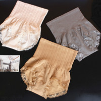Women Seamless High Waist Slimming Belly Panties Postnatal Recovery Cotton Sexy Briefs for Ladies Underwear Control Panties