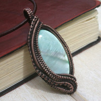 Shell Pendant  -  Wire Wrapped Jewellery Handmade - Shell Jewellery - Wire Wrapped Pendant