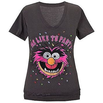 Licensed cool Disney Store Muppets ''Me Like to Party'' ANIMAL Tee for Women T-Shirt T 2XL NEW