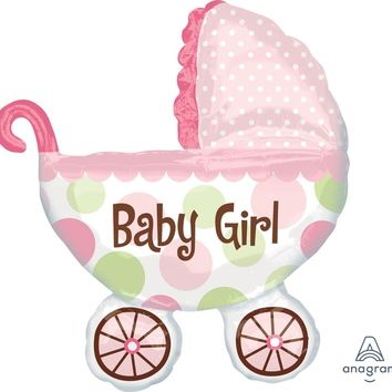 Baby Buggy Girl Balloon