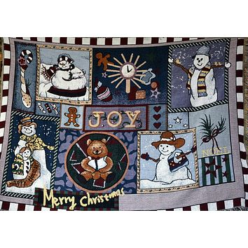 Tache Wonderful Season Tapestry Throw Blanket 50 x 60 (2270)