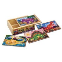 Melissa & Doug Deluxe Dinosaur in a Box Jigsaw Puzzles